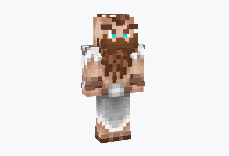 Long Bearded Viking Warrior / Minecraft Skin
