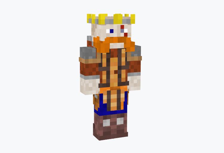 Crowned Nordic Guild Master Viking / Minecraft Skin