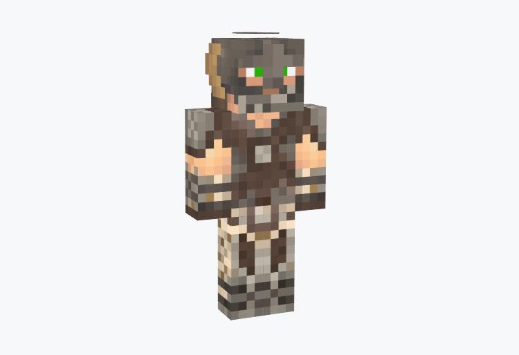 Skyrim Dragonborn Character / Minecraft Skin