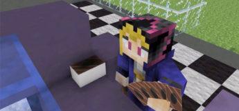 Yugi Muto Dueling in Minecraft