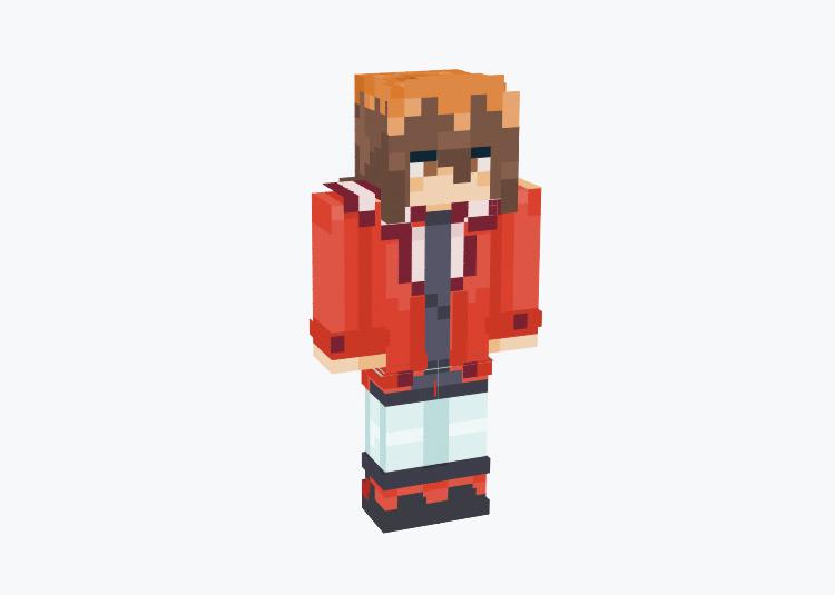 Jaden Yuki from Yugioh GX / Minecraft Skin