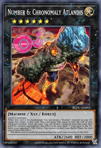 Number 6: Chronomaly Atlandis Yu-Gi-Oh Card