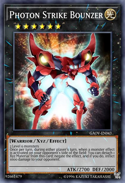 Photon Strike Bounzer YGO Card