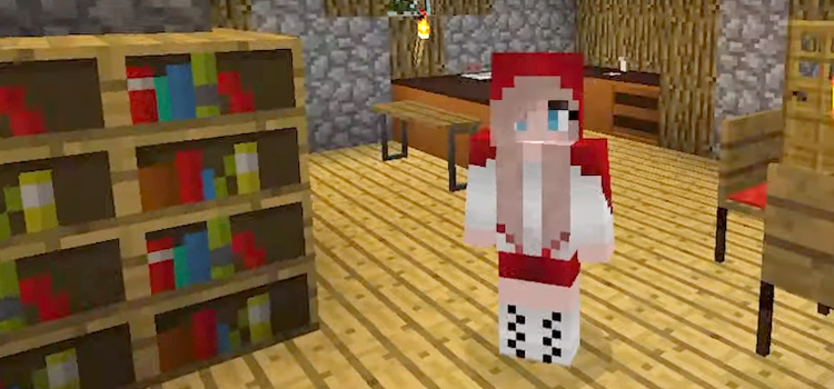 Red Riding Hood Girl Skin for Minecraft