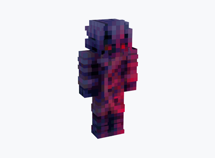 Red and Blue Chaos Drifter Gradient / Minecraft Skin