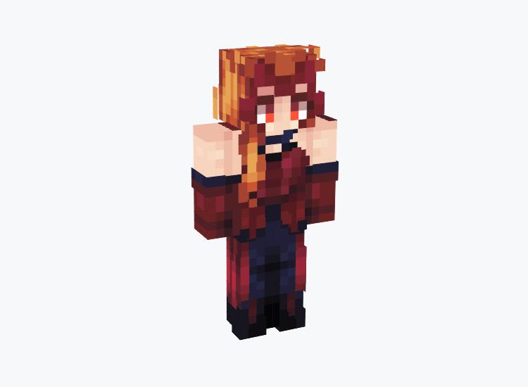 Red Scarlet Witch / Minecraft Skin