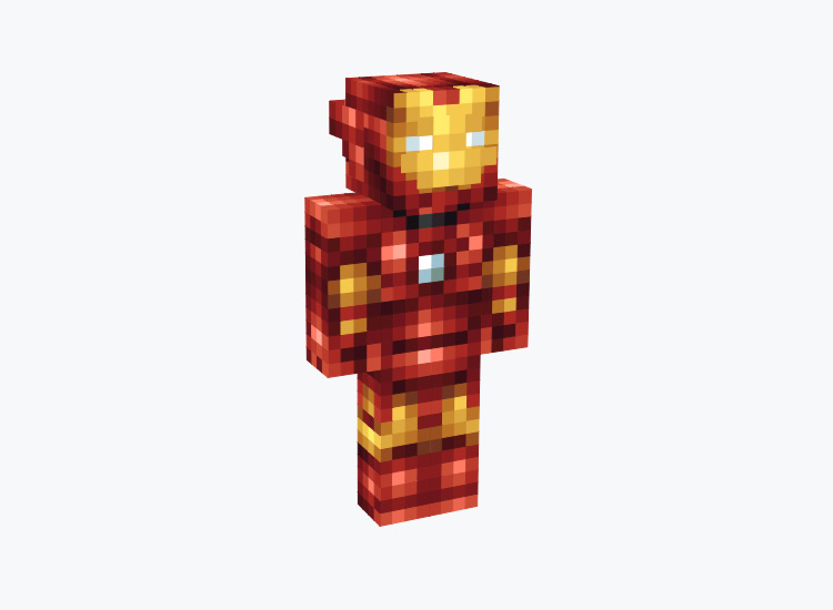 Red Iron Man Outfit / Minecraft Skin