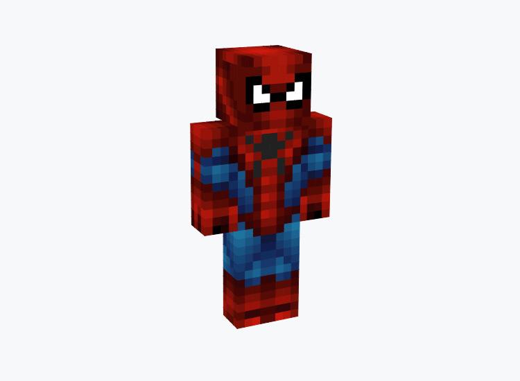 Red & Blue Spider-Man / Minecraft Skin