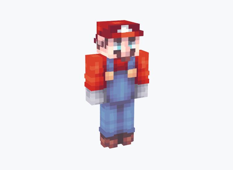 Super Mario with Gradient / Minecraft Skin