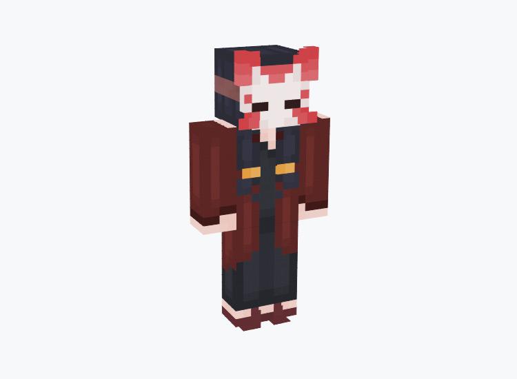 Demon Slayer Kitsune Mask / Minecraft Skin