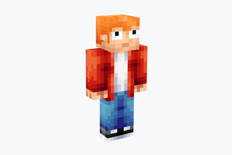 Philip Jay Fry from Futurama / Minecraft Skin
