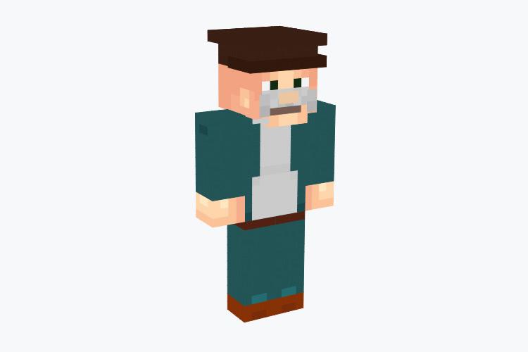 Scruffy the Janitor from Futurama / Minecraft Skin