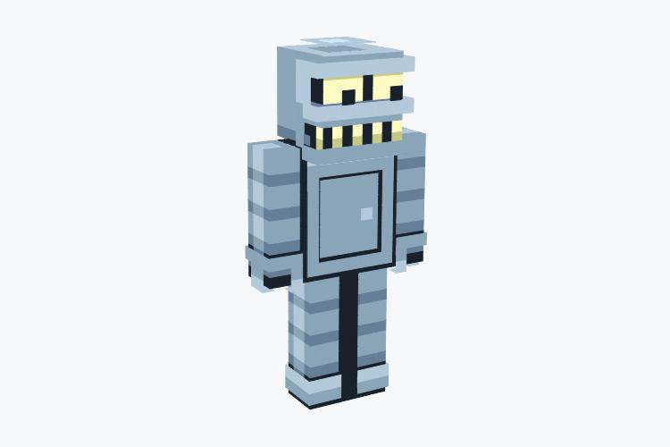 Bender Futurama Minecraft Skin