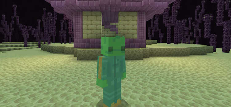Green Alien Skin Preview in Minecraft