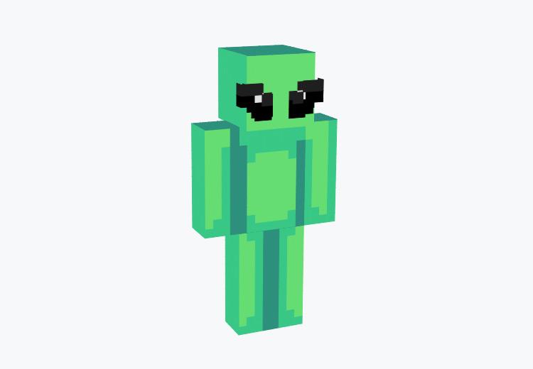 Green Classic Alien Design / Minecraft Skin