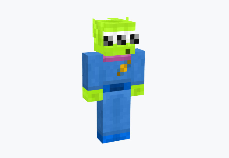 Toy Story Alien Character / Minecraft Skin