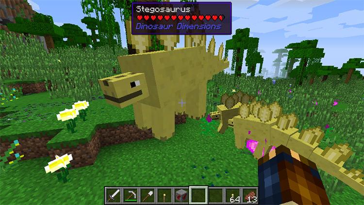 Dinosaur Dimension mod for Minecraft