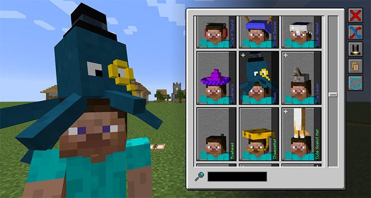 Hats Minecraft mod screenshot