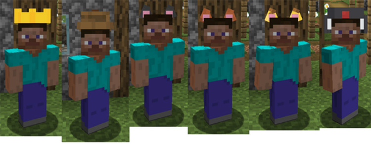 Give Me Hats! mod for Minecraft