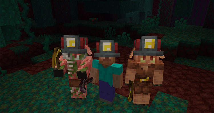 Miner's Helmet mod for Minecraft