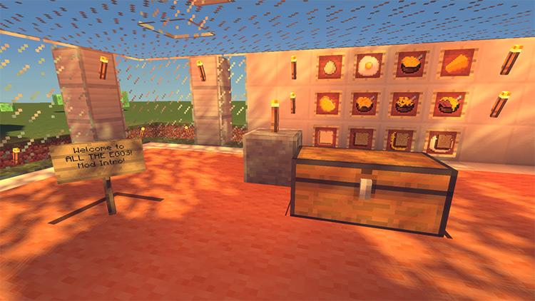 Eat the Eggs! Minecraft mod screenshot