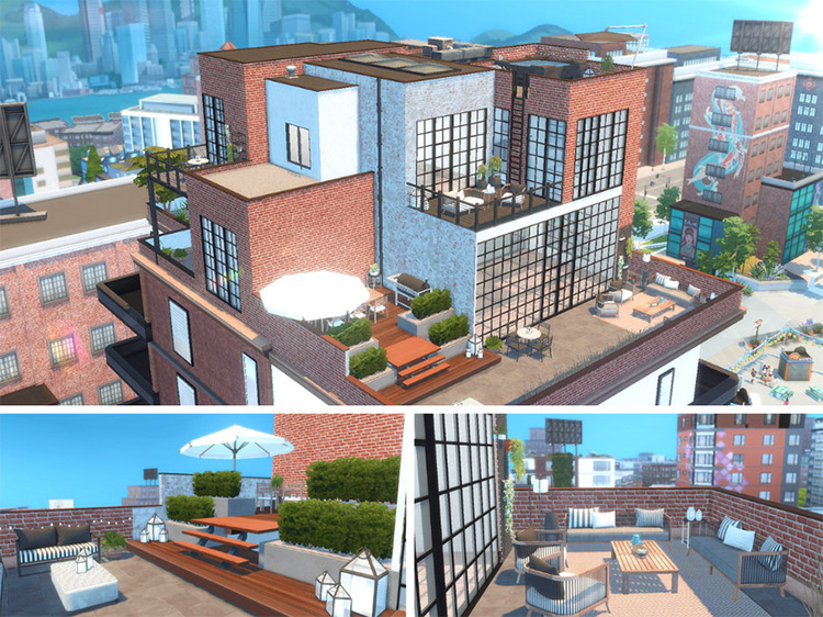 Atelier Artist's Penthouse for TS4