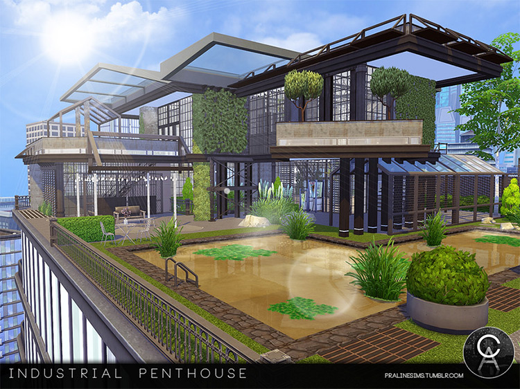 Industrial Penthouse Sims 4 CC