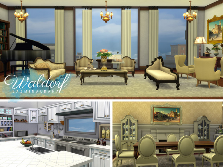 Waldorf Penthouse for The Sims 4
