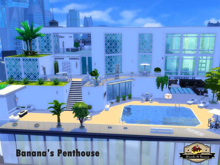 Banana's Penthouse Sims 4 Lot