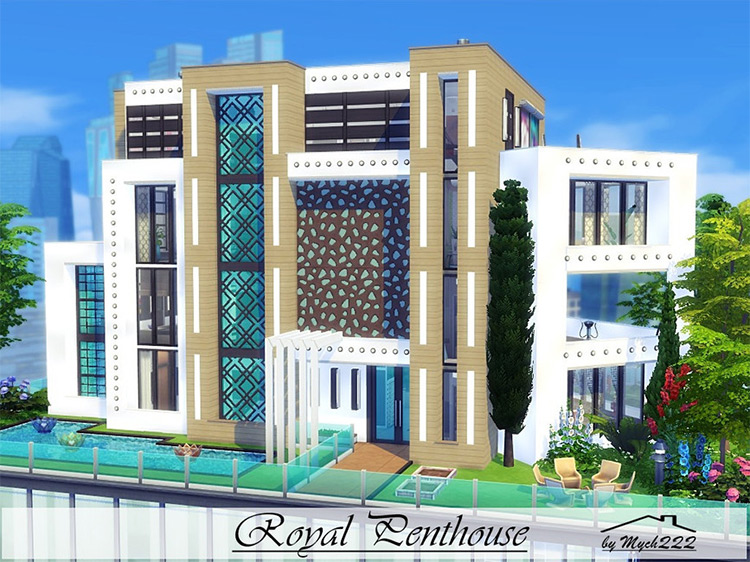 Royal Penthouse Lot for The Sims 4
