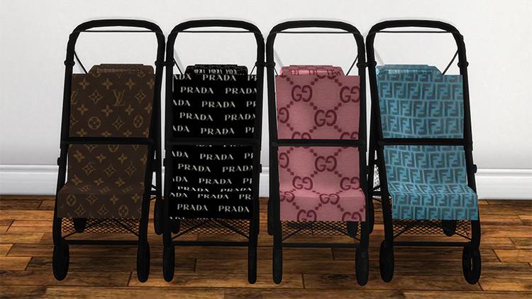 Designer Strollers Set / Sims 4 CC