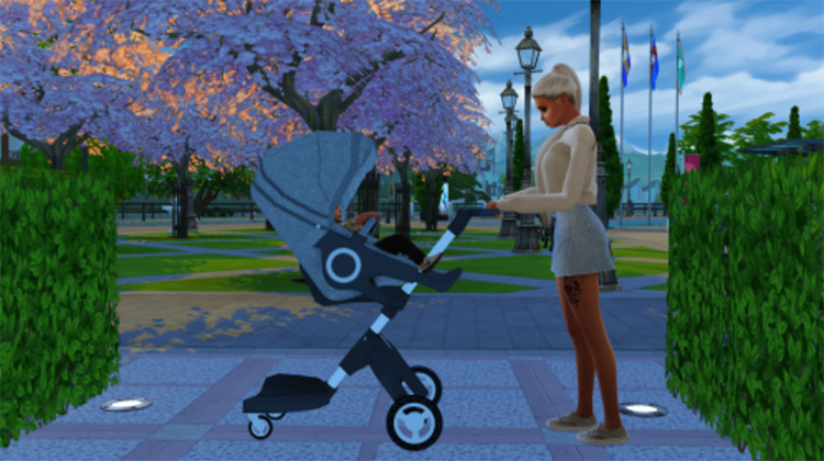 Stroller Pose Pack Sims 4 CC