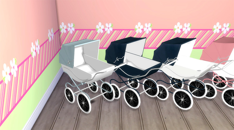 Classic Baby Carriage for The Sims 4