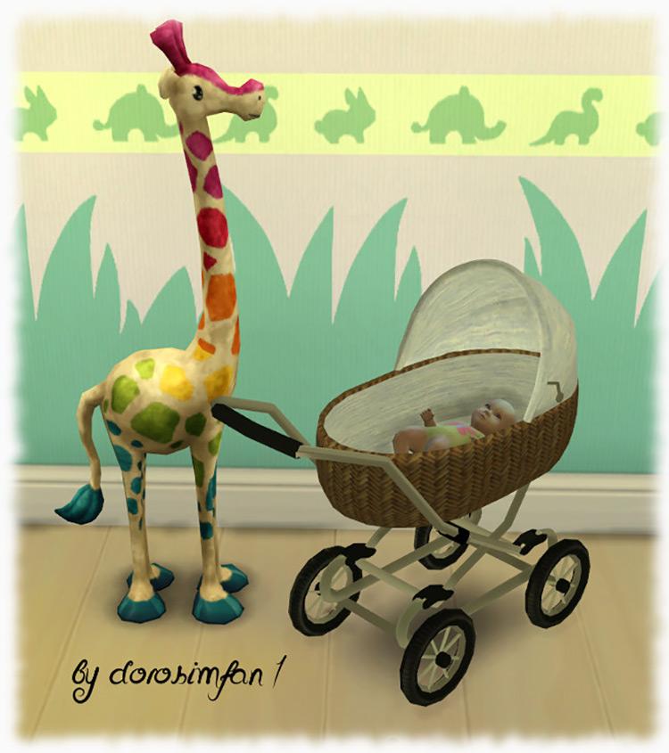 Kinderwagen Stroller / Sims 4 CC