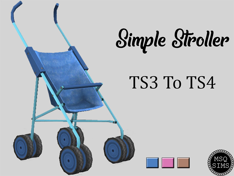 Simple Stroller CC for The Sims 4