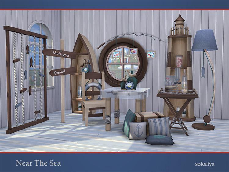 Near The Sea Decor Set for The Sims 4