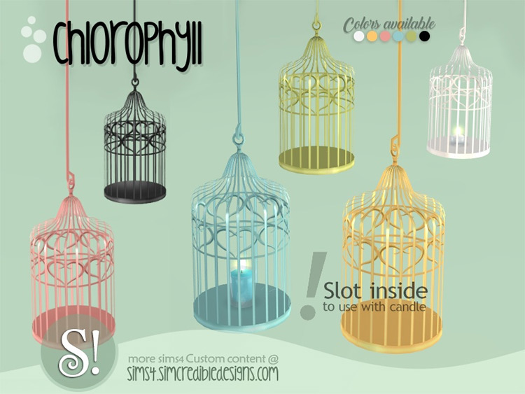Chlorophyll Hanging Cage / TS4 CC