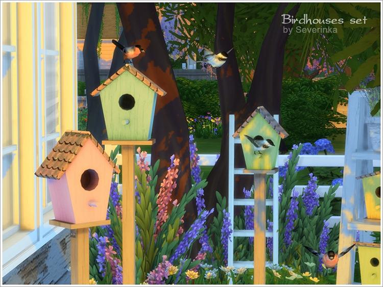 Birdhouses CC Set for The Sims 4