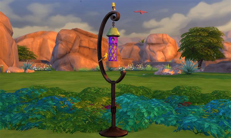 Curvy Bird Feeder for The Sims 4