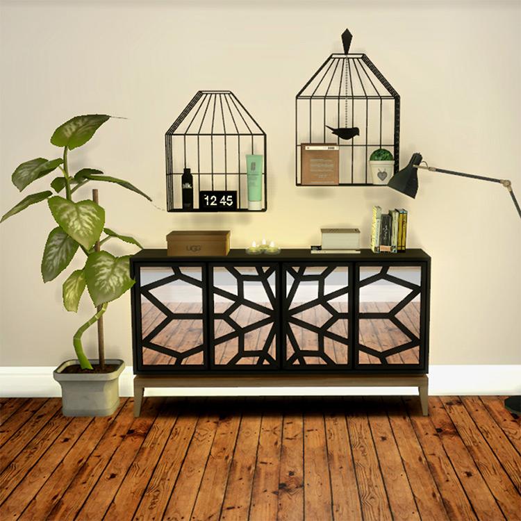 Bird Cage Shelves / Sims 4 CC