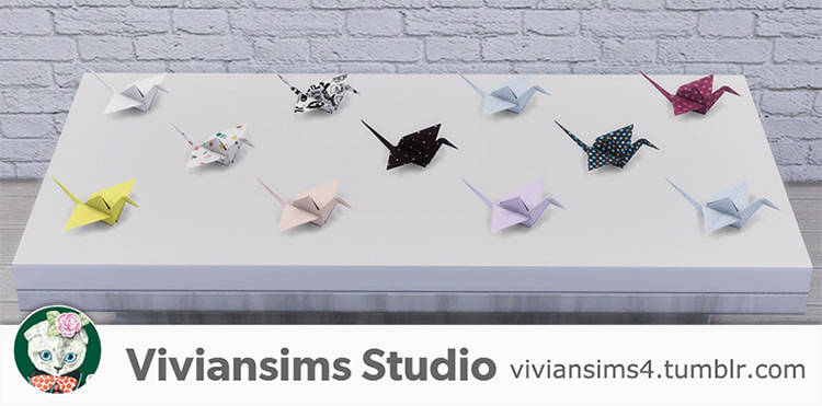 Paper Birds for The Sims 4