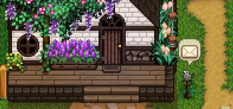 Cottagecore Pigeon Mailbox Mod for Stardew Valley