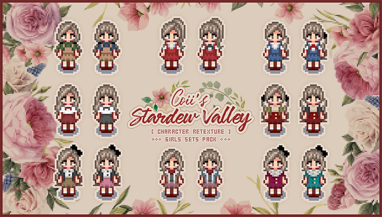 Girls Cottagecore Pack / Stardew Valley mod