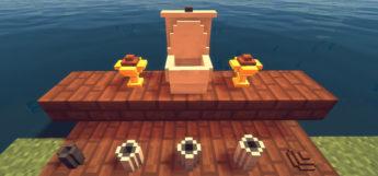 Minecraft Golden Toilet Poop Mod Preview