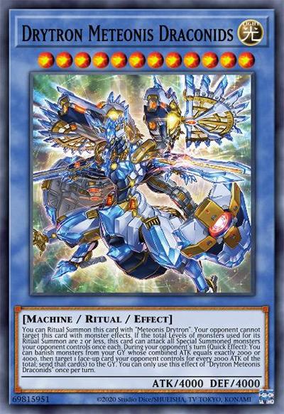 Drytron Meteonis Draconids Yu-Gi-Oh Card