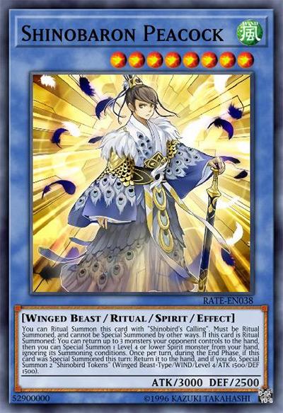 Shinobaron Peacock YGO Card