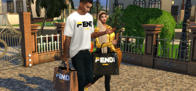 Fendi Bags & Shirts / Sims 4 CC Preview