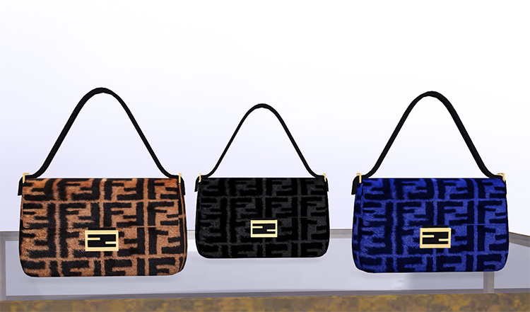 Fendi Fur Handbags / Sims 4 CC