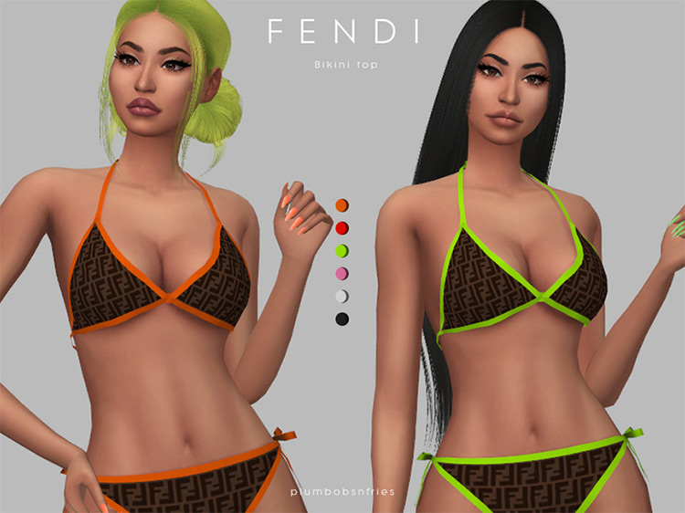 Fendi Bikini / Sims 4 CC