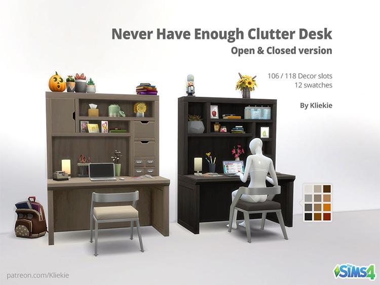Never Have Enough Clutter Desk / Sims 4 CC